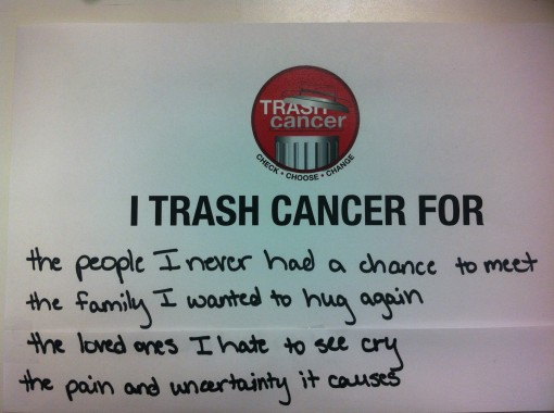 Why I Trash Cancer