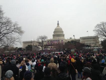 capitol at inauguration