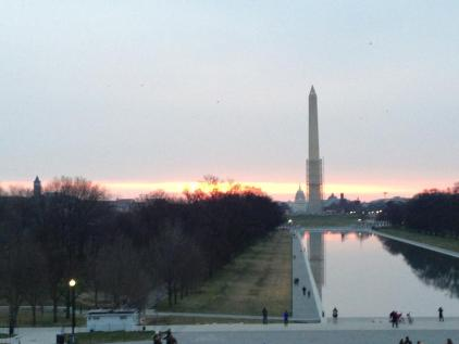 washington monument easter sunrise