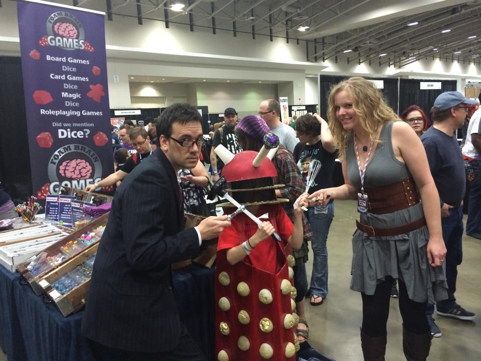 river song and the 10th doctor and child dalek