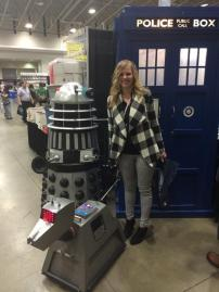 tardis K9 and dalek at awesome con 2014