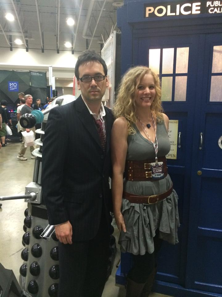 river song and the 10th doctor cosplay