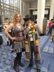 river song and the 4th doctor cosplay