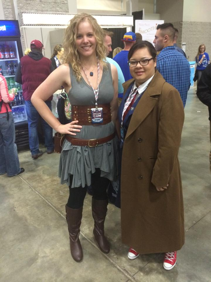 river song and the 10th doctor female cosplay