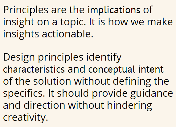 insights to principles